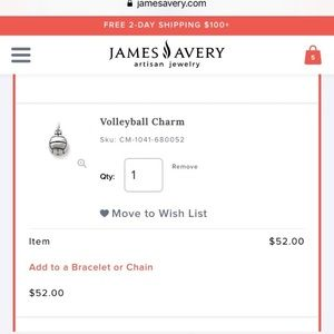 James Avery Jewelry - Volleyball Charm